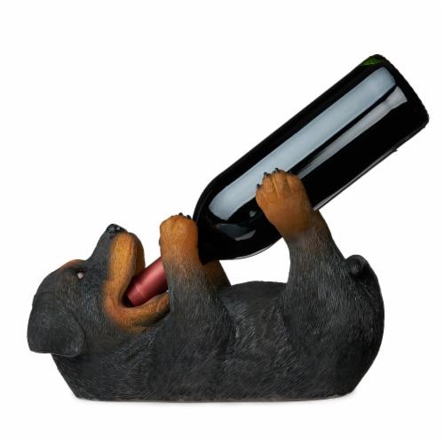 Rottweiler Wine Bottle Holder by True Perspective: back