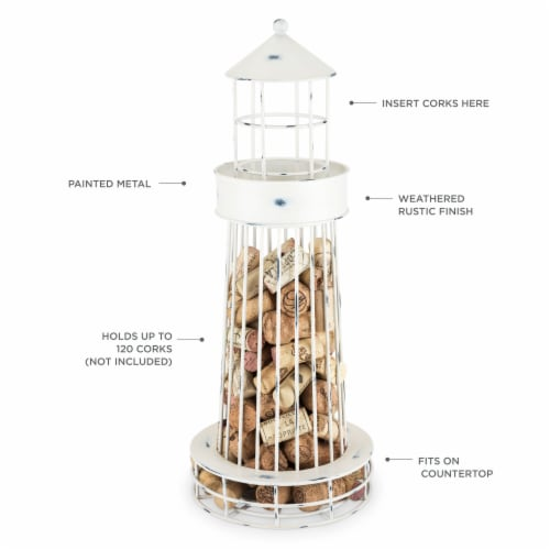 Lighthouse Cork Holder by Twine® Perspective: back