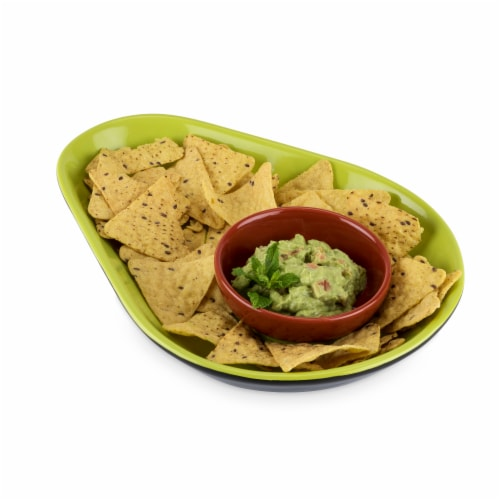 Avocado Chip and Dip Tray by TrueZoo Perspective: back