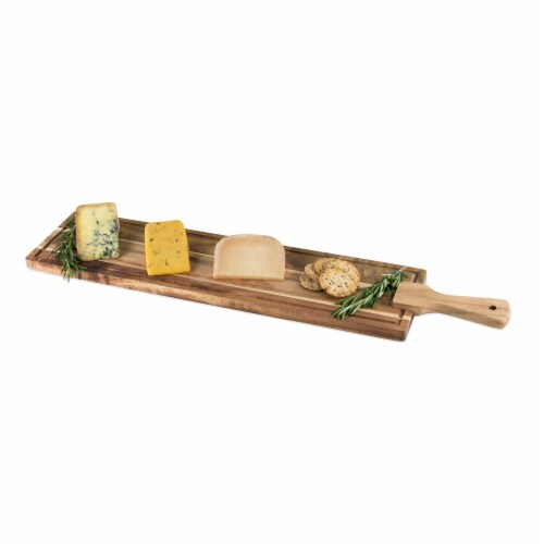 Rustic Farmhouse: Acacia Wood Tapas Board by Twine Perspective: back