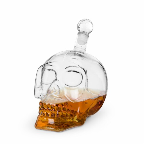Foster & Rye 6060 Skull Liquor Decanter, Clear Perspective: back
