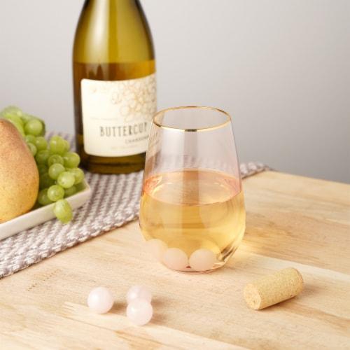 Rose Quartz Wine Gems Set of 6 by Twine® Perspective: back
