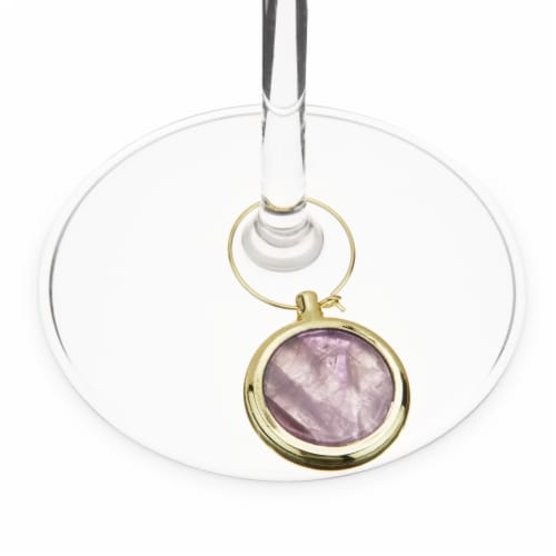 Agate Wine Charm Set by Twine® Perspective: back