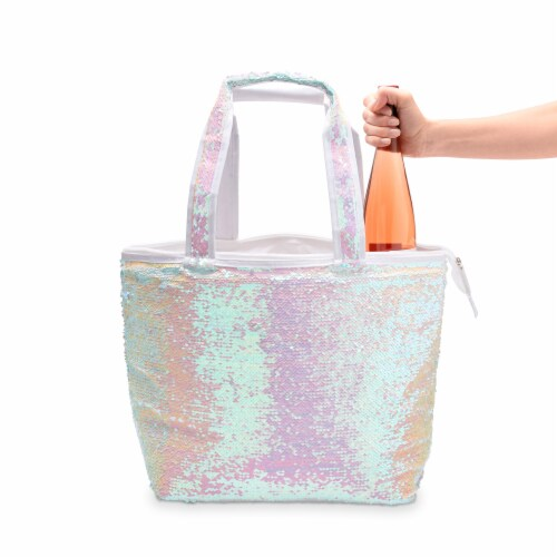 Mermaid Sequin Cooler Tote by Blush® Perspective: back