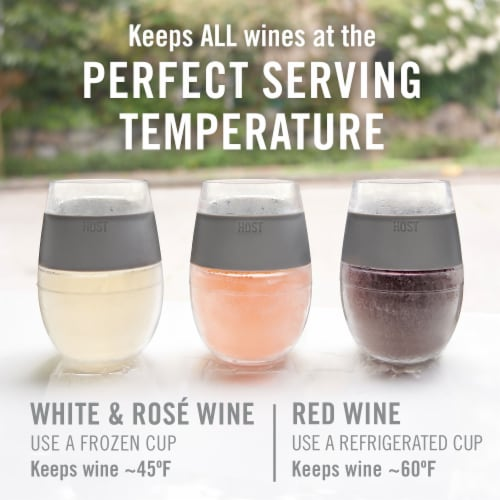 True Fabrications Wine Freeze Cooling Cup Grey Perspective: back