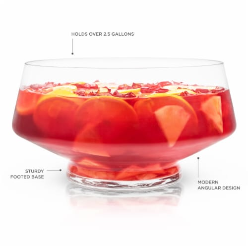 Footed Punch Bowl by Viski® Perspective: back