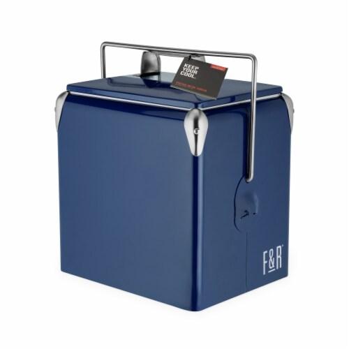 Vintage Metal Cooler by Foster & Rye™ Perspective: back