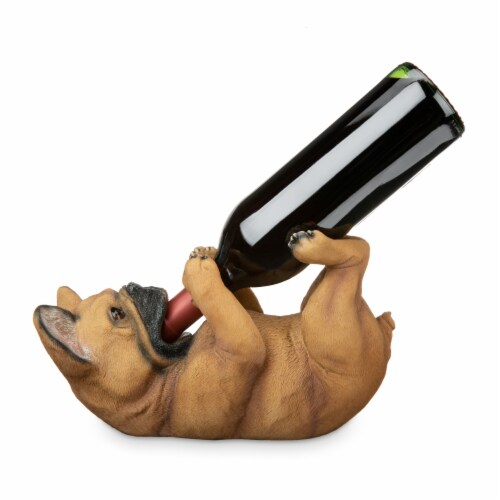 French Bulldog Wine Bottle Holder by True Perspective: back