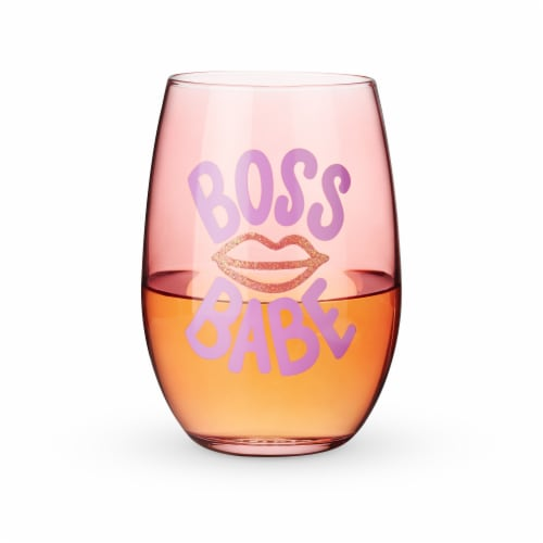Boss Babe Stemless Wine Glass by Blush® Perspective: back