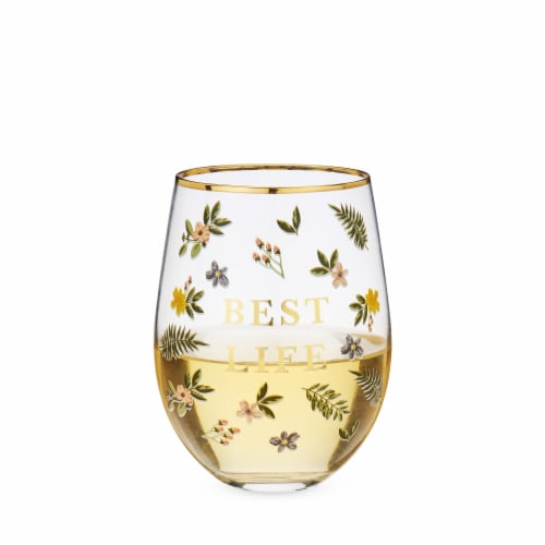 Best Life Stemless Wine Glass by Twine® Perspective: back