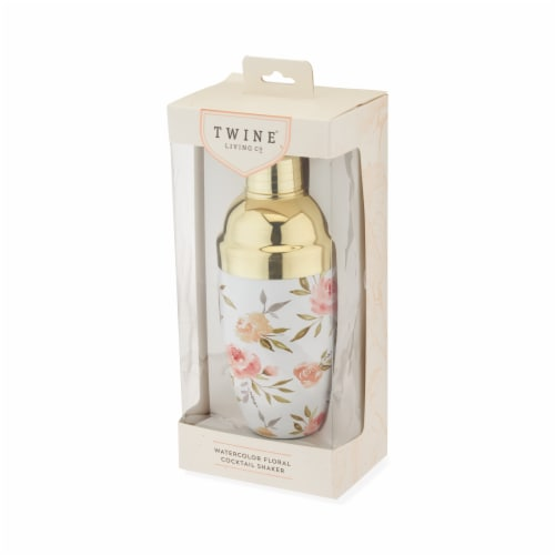 Watercolor Floral Cocktail Shaker by Twine® Perspective: back