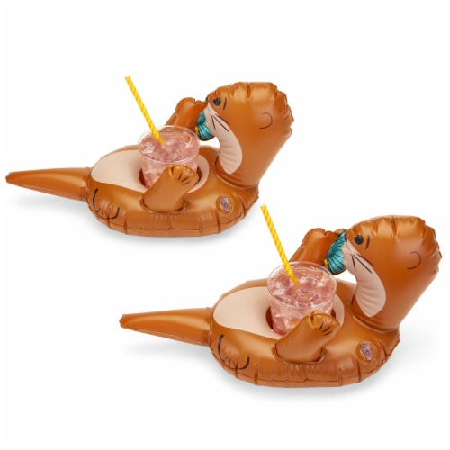 Otter Drink Floaties, set of 2 by TrueZoo Perspective: back