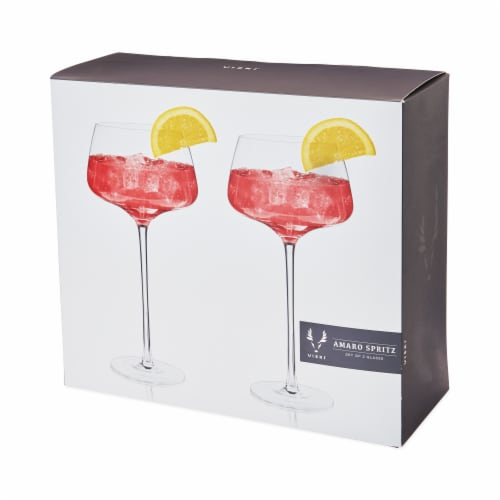 Angled Crystal Amaro Spritz Glasses by Viski® Perspective: back
