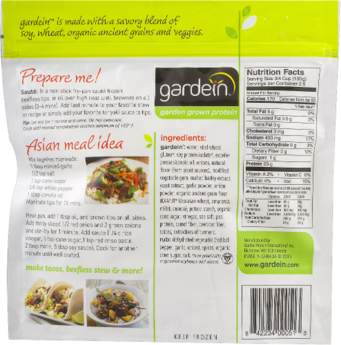 Gardein Home Plant-Based Be'f Tips Perspective: back