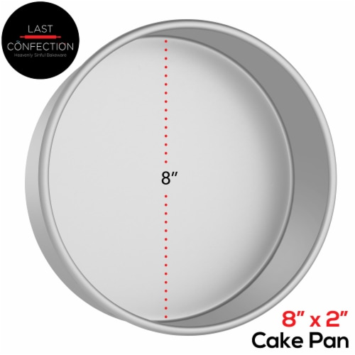 8  x 2  Round Aluminum Cake Pan by Last Confection Perspective: back