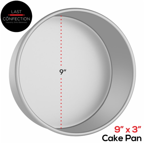 9  x 3  Round Aluminum Cake Pan by Last Confection Perspective: back