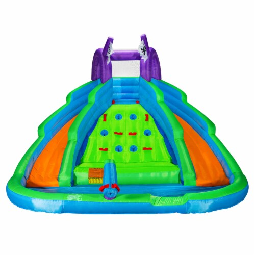 Bounce House w/ Climbing Wall, Water Slide, Pool, and Blower - Cloud 9 Perspective: back