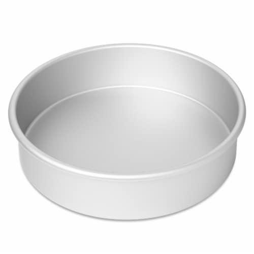 2pc Round Cake Pan Set, 8  x 2  Deep Aluminum Pans - Last Confection Perspective: back