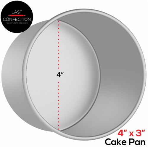 4  x 3  Round Aluminum Cake Pan by Last Confection Perspective: back