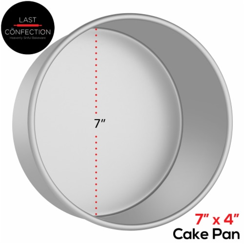 7  x 4  Round Aluminum Cake Pan by Last Confection Perspective: back