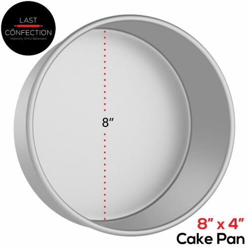 8  x 4  Round Aluminum Cake Pan by Last Confection Perspective: back