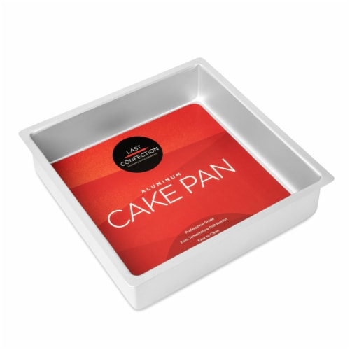 12  x 12  x 3  Deep Square Aluminum Cake Pan by Last Confection Perspective: back