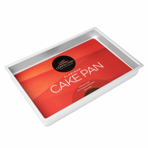 12  x 18  x 2  Deep Rectangular Aluminum Cake Pan by Last Confection Perspective: back
