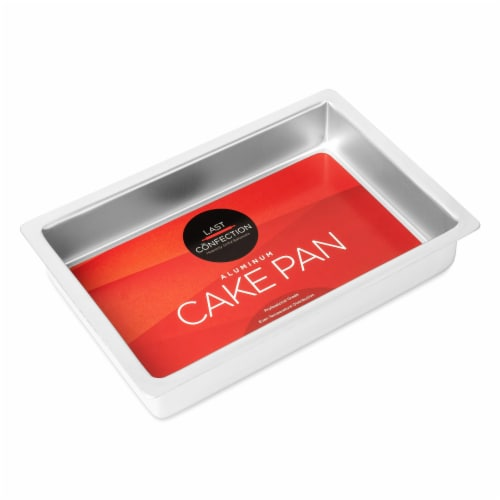 7  x 11  x 2  Deep Rectangular Aluminum Cake Pan by Last Confection Perspective: back