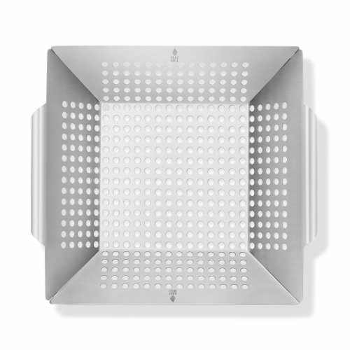 Vegetable Grilling Basket, Stainless Steel by Pure Grill Perspective: back