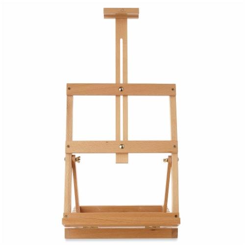Tabletop H-Frame Beechwood Artist Studio Painting Easel- 7 Elements Perspective: back