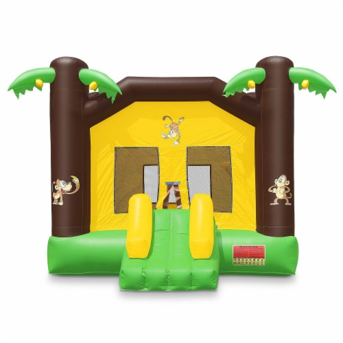 17'x13' Commercial Inflatable Jungle Bounce House w/ Blower by Cloud 9 Perspective: back