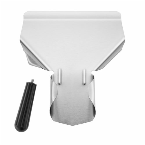 Commercial French Fry Scoop, Left - Stainless Steel Bagger & Scooper Perspective: back