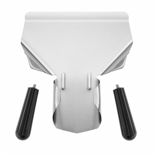 Commercial French Fry Scoop, Double Handle - Stainless Steel Scooper Perspective: back