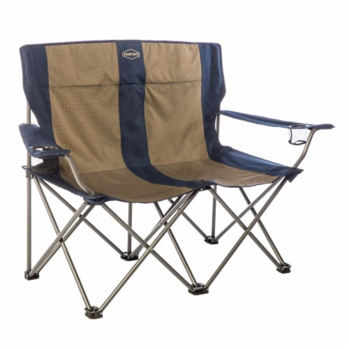 Kamp-Rite 2 Person Outdoor Tailgating Camping Double Folding Lawn Chair (2 Pack) Perspective: back