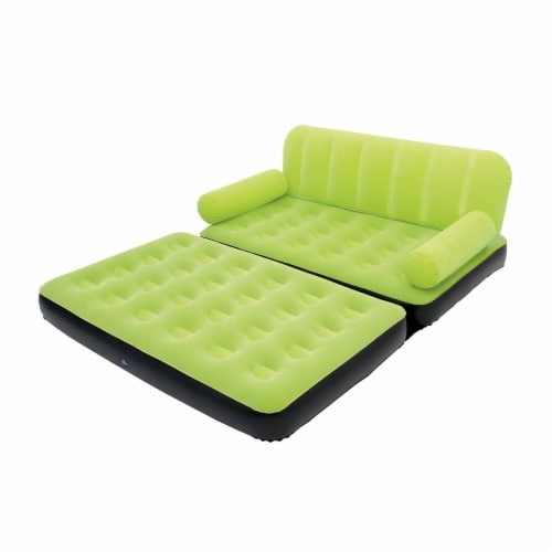 Bestway Multi Max Air Convertible Couch Sidewinder AC Air Pump, Green (2 Pack) Perspective: back