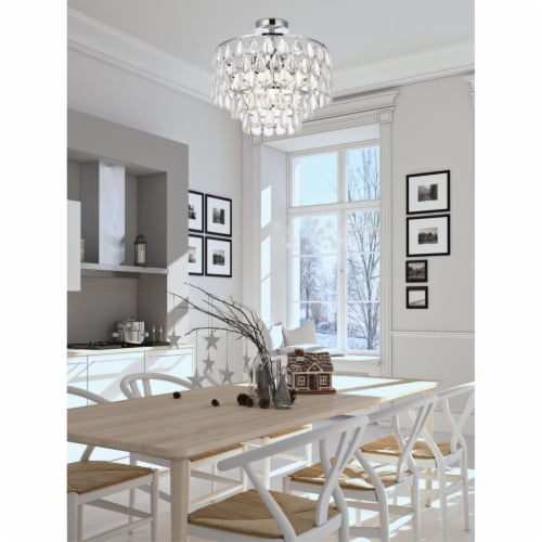Mila 16 inch flush mount in chrome Perspective: back