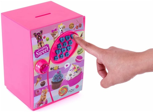 Hot Focus Piggy Bank - Sweet Crush Digital Money Safe Toy Bank with Electronic Password Lock Perspective: back