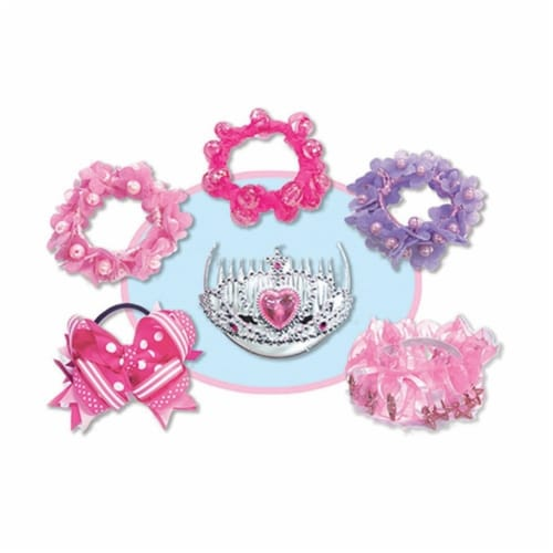 Kids Hair Chandelier Kit Tiara Scrunchie Hot Focus Perspective: back