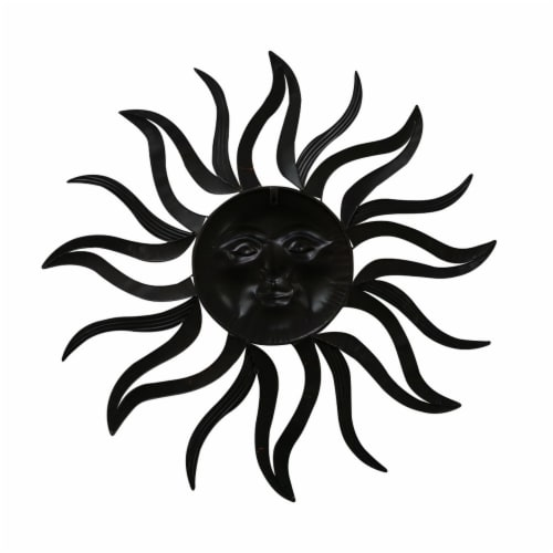 Sun With Facial Details Hanging Wall Decor - Bronze Perspective: back