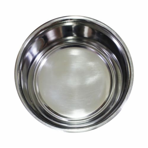 Multi Print Stainless Steel Dog Bowl By Bella N Chaser Perspective: back