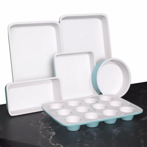 NutriChef NCBK6CT5 6-Piece Non-Stick Kitchen Oven Baking Pans Perspective: back