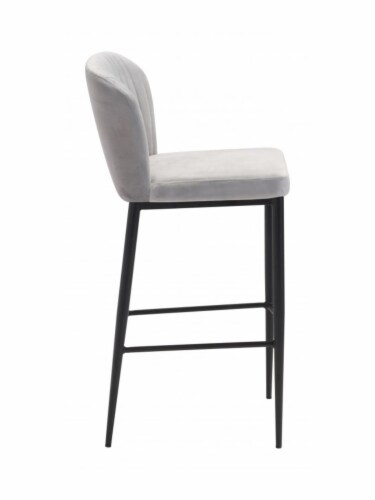 Zuo Luxurious Flared Back Tolivere Bar Chair Set of 2 -Gray Perspective: back