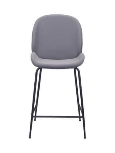 Zuo Modern Design Upholstered Miles Counter Chair - Gray Perspective: back