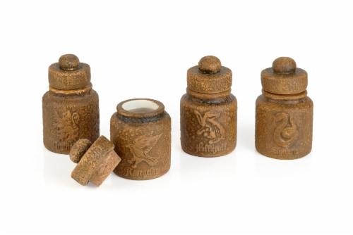Harry Potter Hogwarts Houses 1.45-Oz Ceramic Storage Jars - Set of 4 Perspective: back