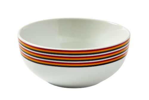 Harry Potter Gryffindor 16-Piece Dining Set | Set Includes Plates, Bowls, & Mugs Perspective: back