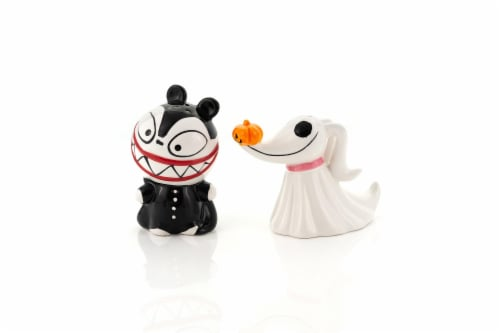 Nightmare Before Christmas Scary Teddy & Zero Ceramic Salt & Pepper Shakers Perspective: back