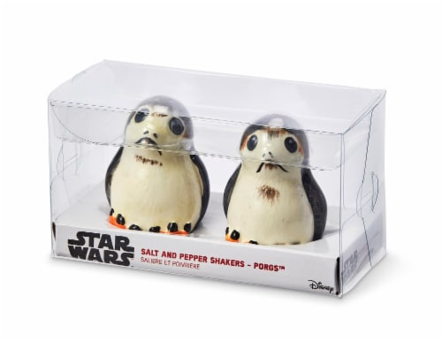 Star Wars Porgs Salt & Pepper Shakers | Official Star Wars Ceramic Spice Shakers Perspective: back