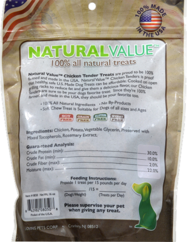 Natural Value Chicken Tenders Dog Treats Perspective: back