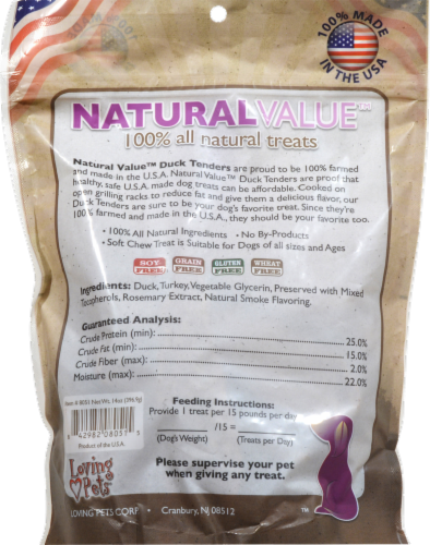Natural Value Duck Dog Treats Perspective: back