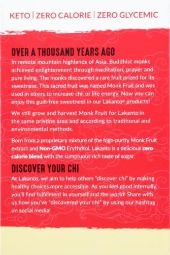 Lakanto Golden Monkfruit Sweetener Packets Perspective: back